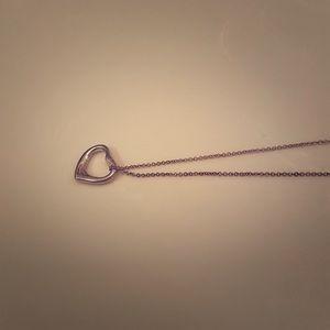 T&C open heart necklace